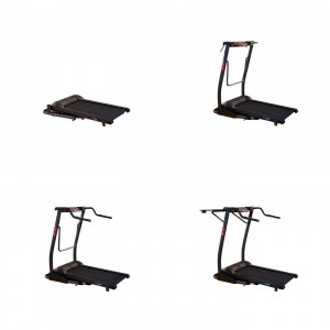Exerpeutic Treadmill Desk in folded and set up positions