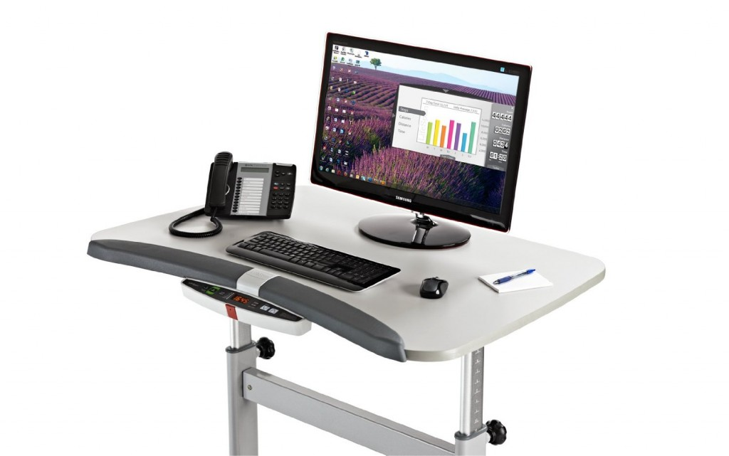 Desktop of the LifeSpan Treadmill Desk