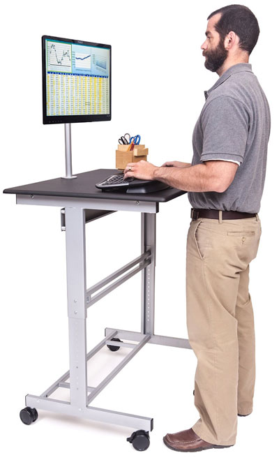 Mobile Standing Desk On Wheels