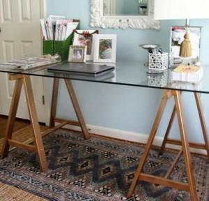 DIY Sawhorse Desk Legs