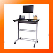 Mobile Stand Up Desk on Wheels