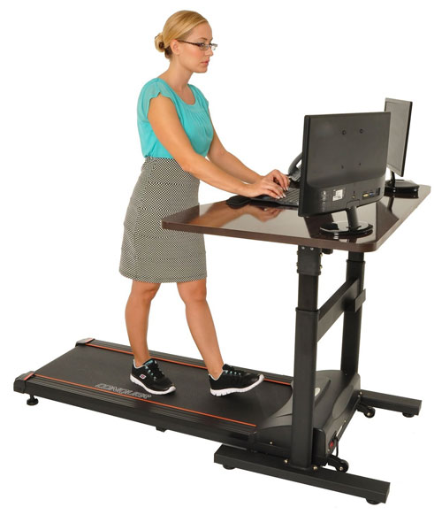Conquer Walking Treadmill Desk with Adjustable Height Standing Desk and Electric Treadmill
