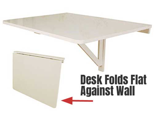 Wall Mounted Drop Leaf Desk Provides Perfect Money Saving And Space Option For
