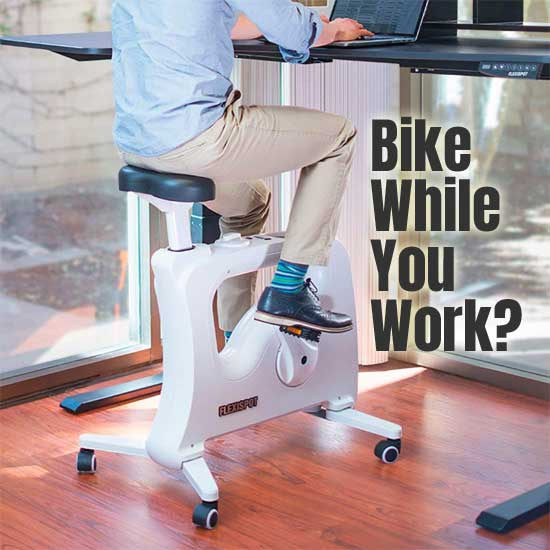 Flexispot Standing Desk Exercise Bike, Stationary Desk Bike